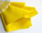 Lemon Yellow Felt, 100% Wool, Choose Size, Large Felt Sheet, Wool Felt Square, Bright, Neon Color, DIY Craft Supply