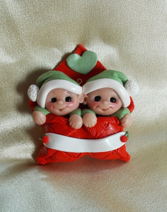 TWIN BABY ORNAMENT Twin Ornament Baby's First Christmas