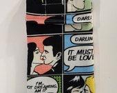 Cell Phone Case, Love Comic gadget pouch, glasses case, pop style, retro
