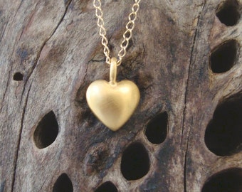 Solid gold Tiny Heart Necklace Love 14k Gift for Her Anniversary birthday mom everyday necklace Christmas Free shipping Black Friday sale