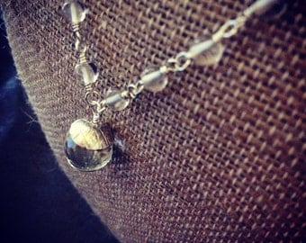 Clarity Necklace - Crystal Quartz on Sterling Silver
