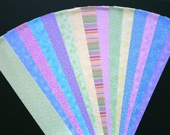 Nursery Pastels Jelly Roll Quilt Strip Pack Cotton Quilting Fabric Die Cut No Dups