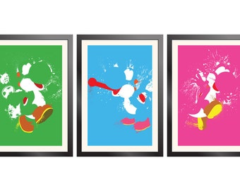 Yoshi Paint Poster 3-pack