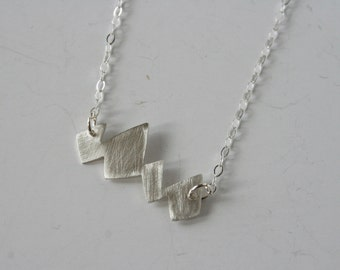 Silver Mountain Necklace, Mountain Jewelry, Jagged Jewelry, Silver Necklace, Modern Design Jewelry, Minimal Jewelry, Mountain Range