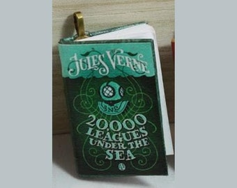 20,000 Leagues Under the Sea - Mini-Book Pendant - Jules Verne - *Steampunk* - 20,000 Leagues Under the Sea - Book Jewelry - *Jules Verne*