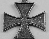 Iron cross 1  bail Australian Pewter R027