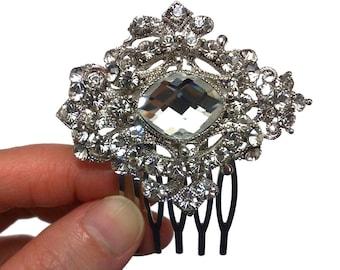 Art Deco Bridal Hair Comb, Gatsby Wedding Hair Jewelry, Swarovski Wedding Hair Comb, Crystal Bridal Headpiece, Birthday Gift for Her, CORINA