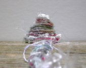 snow country fiber effects™  specialty art yarn bundle 12yds . holiday gift wrap ribbon . red white green silver . christmas fiber bundle