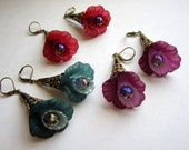 Available on Commission - Earrings Trumpet Flower - Your Choice of Colors