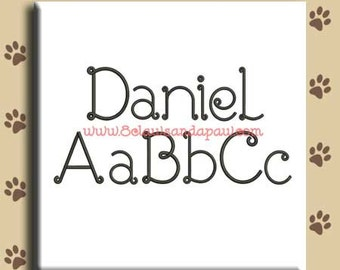 Daniel Embroidery Font Includes 8 Sizes