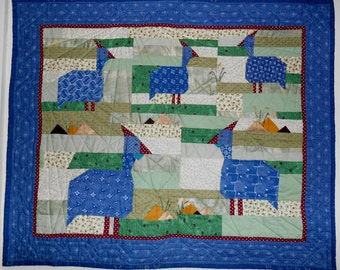 Fields 'n Fowls Wall Art Quilt