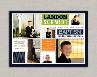 LDS Baptism Invitation - Landon