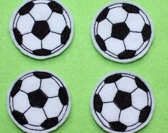 Soccer Ball Felt Applique - Set of 4