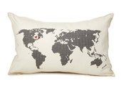 map pillow: cover only