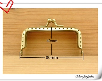 3 inch anti brass purse frames metal frames clip clasp with sew hole A50