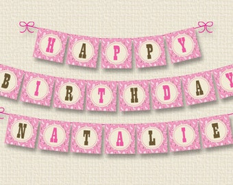 Personalized Cowgirl Birthday Party Banner – DIY Printable (Digital File)