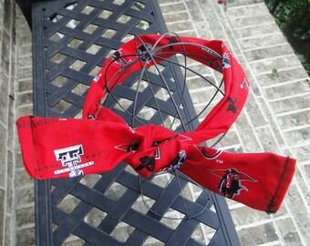Texas Tech Red Raider Headband, Go Red Raiders, Guns Up Headband, Texas Tech Bling