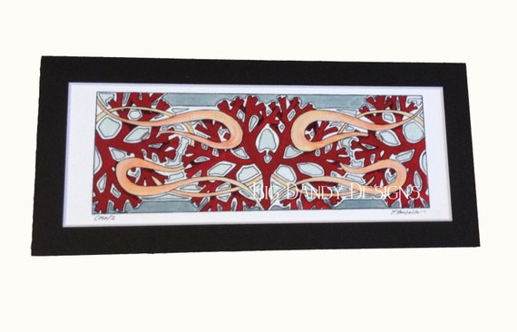 Coral Archival Print with Choice of Mat