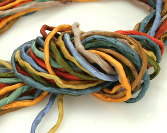 10 ea 2mm Silk Cord Marrakesh Hand Dyed Spice Colors