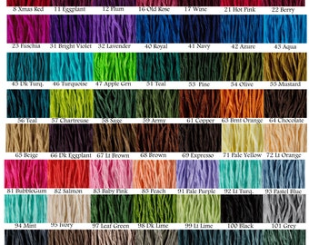 30 pcs Fairy Ribbons Pick Any Colors Silk Jewelry Cords Hand Dyed Necklace Ribbon