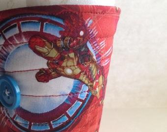Coffee cup sleeve, coffee cuff Iron Man cup cozy