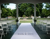 Fabric Custom Hand-painted Aisle Runner - Heavy Polyester & Opaque