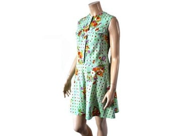 PISTACHE French Vintage 60sGreen 60s Babydoll Dress