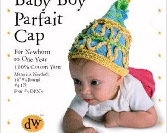 Knitting Kit/Baby boy hat/Newborn boy cap/Debby Ware pattern/Cotton baby hat/hand knitting/knitting kit/Baby boy hat/baby boy cap/knitting