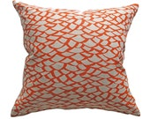 Throw Pillow Cover - 'Shingle - Orange'