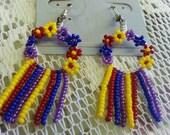 Hippie Flower Earrings