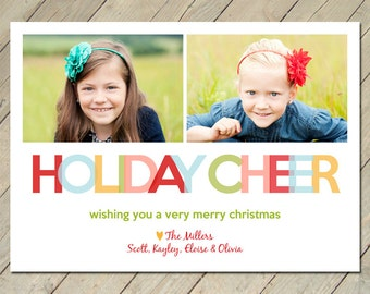Custom Photo Christmas Card - Holiday Cheer