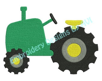 Tractor Farm Machine Embroidery Design 4x4 and 5x7 Instant Download