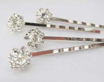 Wedding Rhinestone Hair Pins, Silver Crystal Hair Pins, Bridal Hair Pins, Wedding Hair Accessories, Bridal Hair Jewlery
