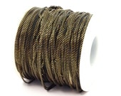 5 M (1.5 mm) Black Antique Brass  Faceted Soldered Curb Chain - ys009  ( Z046 )
