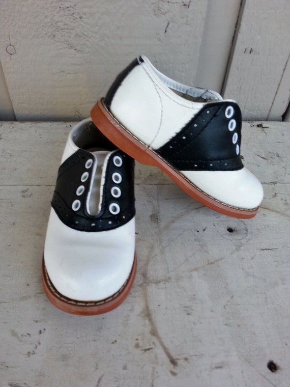 Superoos Black And White Saddle Oxford By Myrobynsnestboutique