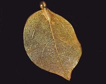 60-75mm Natural Leaf Gold Plated Leaf Pendant (e7117)