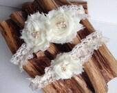 Wedding Garter /  Vintage-inspired Garter / Bridal Garter Set