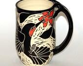 Hummingbird Mug (with fuchsias)