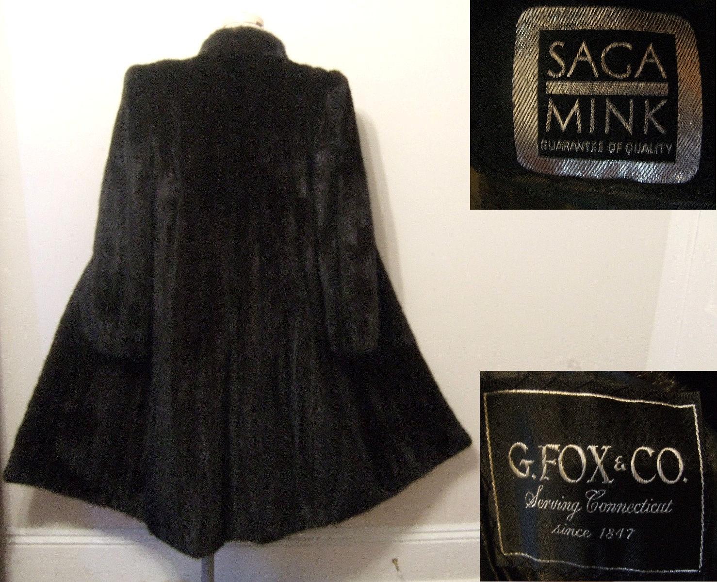 Saga Mink Coat Black Brown Mink Fur Coat Full by walkbymoonlight