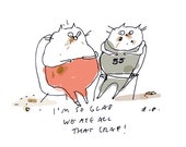 I'm so glad we ate all that crap - Cat Card - Funny Cat Card - Friendship Card - Love Card