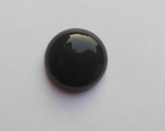 Black onyx cabochon - round cabochon - gemstone cabochon - 1 cabochon - supplies - natural gemstone