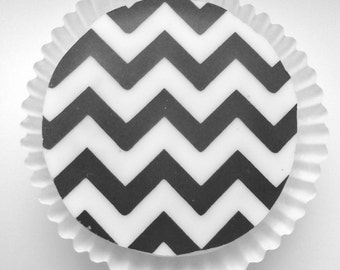 EXCLUSIVE Black CHEVRON Chocolate Covered Oreos -Wedding Shower Birthday Gift Favor Formal Party