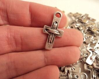 Cross - set of 8 charms - #CR102