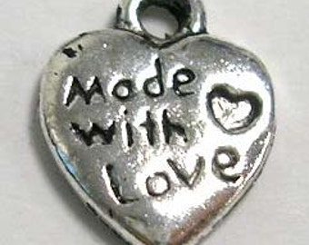 Made with Love charm - Set of 25