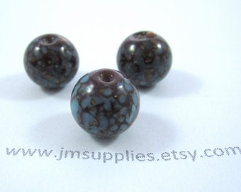 Bead, Lampworked Glass 12mm Round
