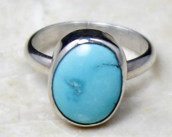 Sleeping Beauty Turquoise Ring December Birthstone Ring, Size 5 Ring, Turquoise Jewelry