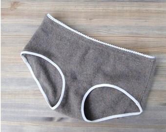 Custom made cashmere underwear, Cashmere hipsters, wool underwear