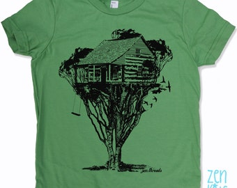 KIDS TREEHOUSE Tee Shirt - American Apparel Sizes 2 4 6 8 10 (8 Color Options) - FREE Shipping