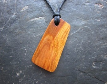 "Natural Wood Pendant - Blackthorn/Sunwheel - Unique Protective ""Secret Sigil"" Design."