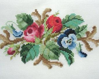 Berlin posy- Cross stitch pattern . Instant download PDF